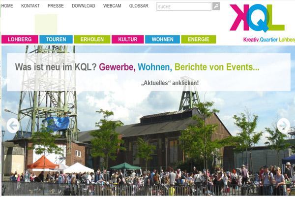Kreativ.Quartier Lohberg (Screenshot Website KQL)
